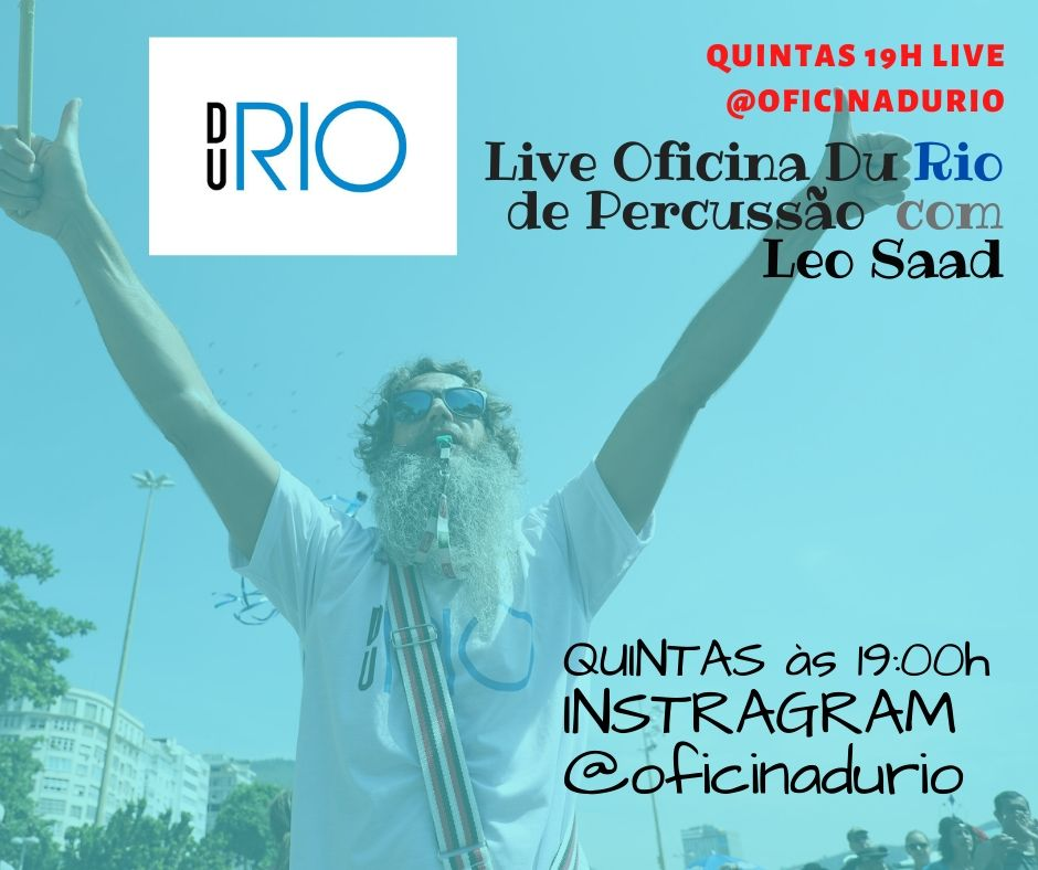 LIVE da Oficina Du Rio de Percussão :: aulas de batucada ON LINE