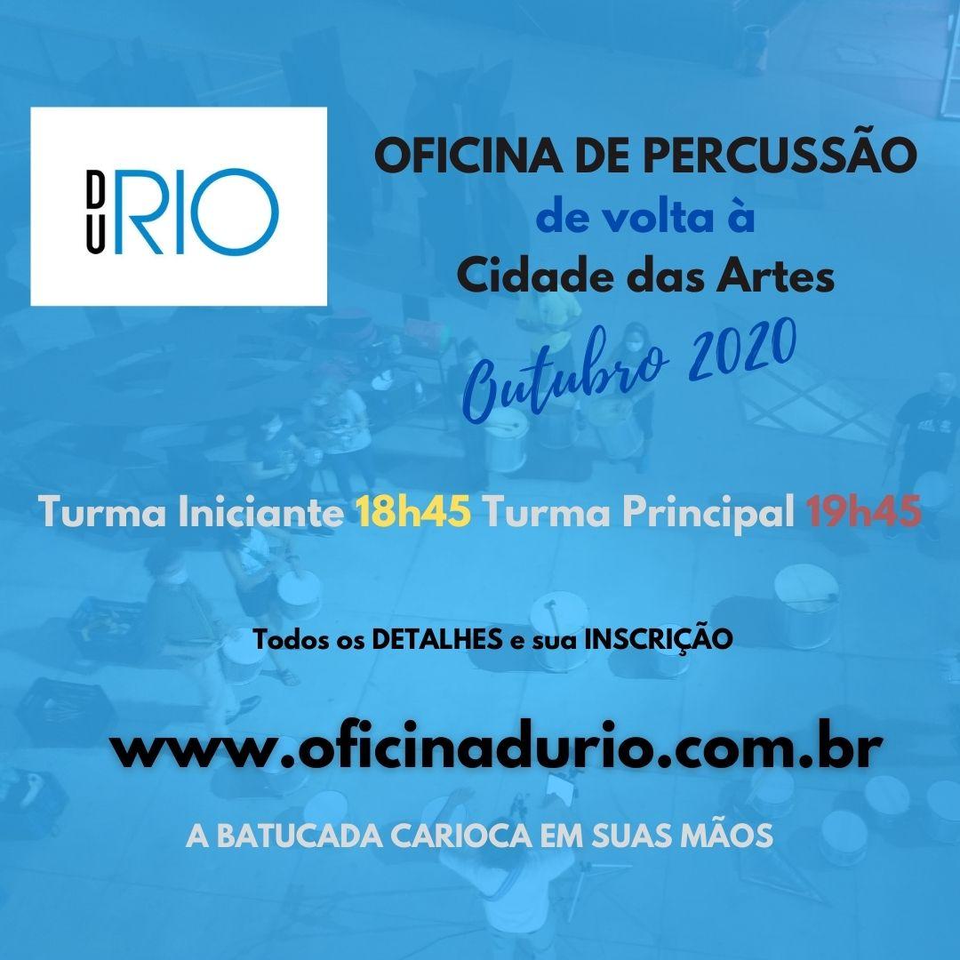 OFICINA DU RIO volta às Aulas na Cidade das Artes